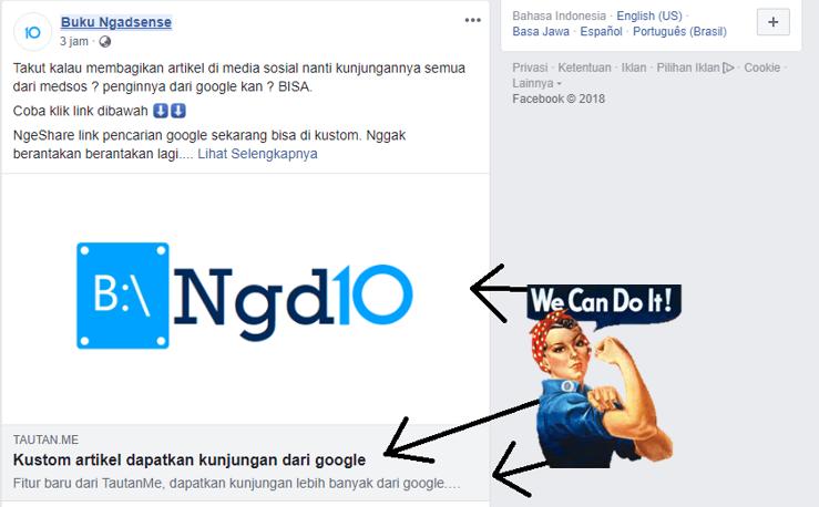 Cara Kustom Link Pencarian Google di media sosial